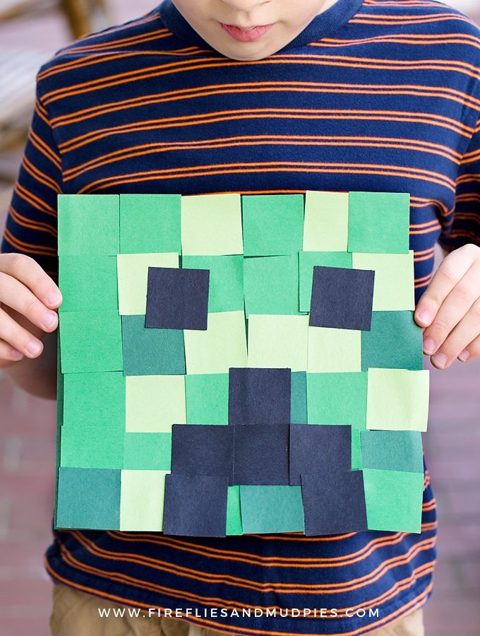 Easy Creeper Craft for Kids