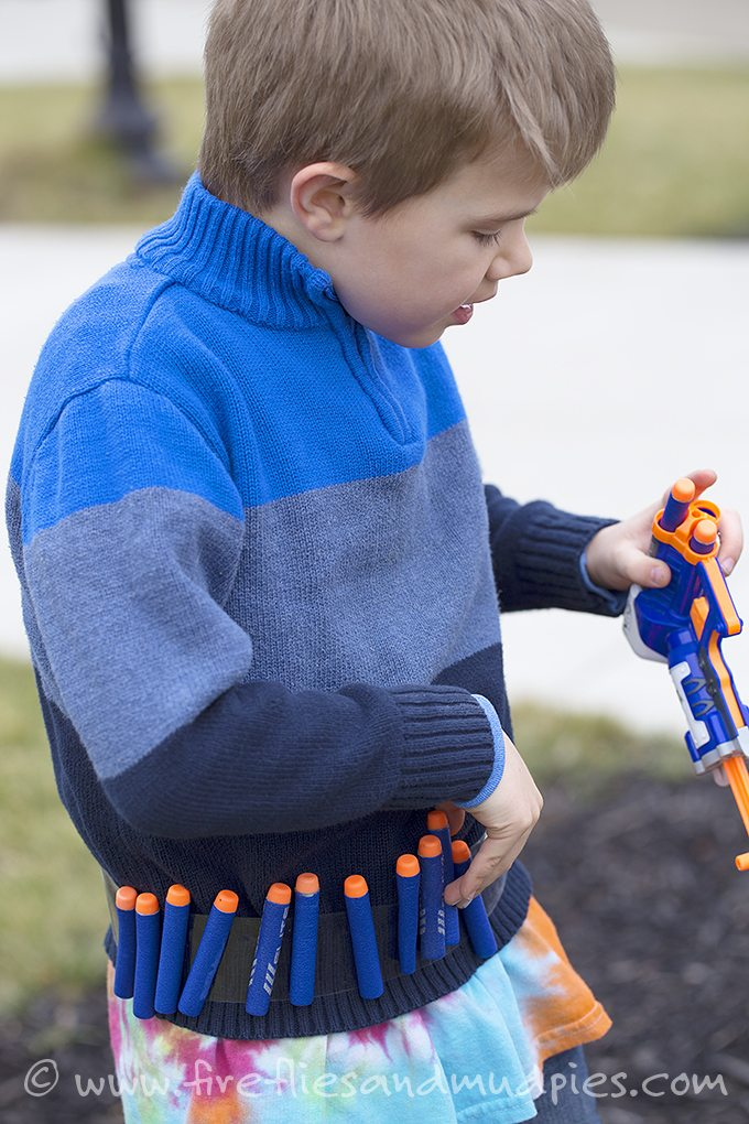 Epic Dart Belt Hack for NERF Battles!! Kids love it!