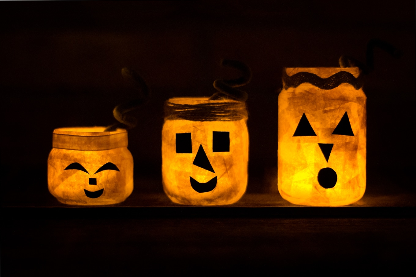 Jack O'Lantern Nightlight Jars