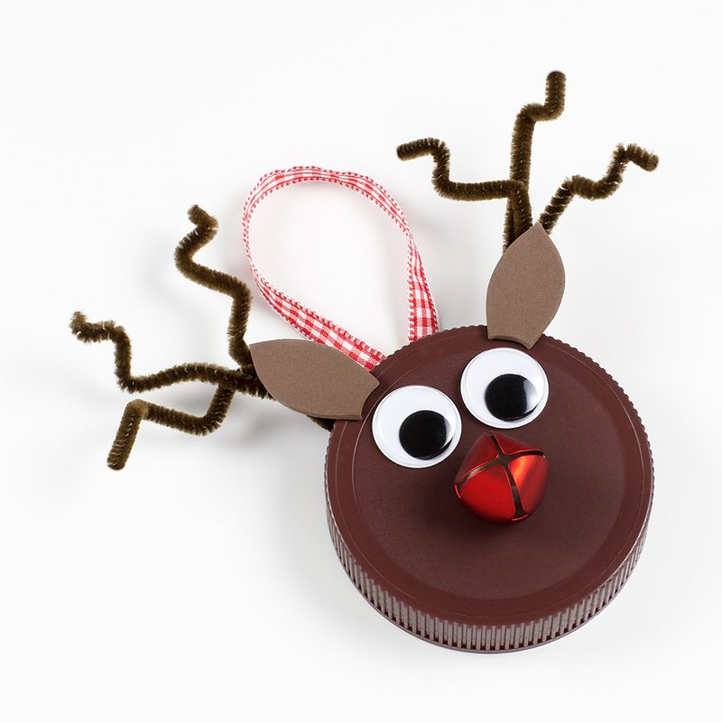 Jar Lid Reindeer Ornaments