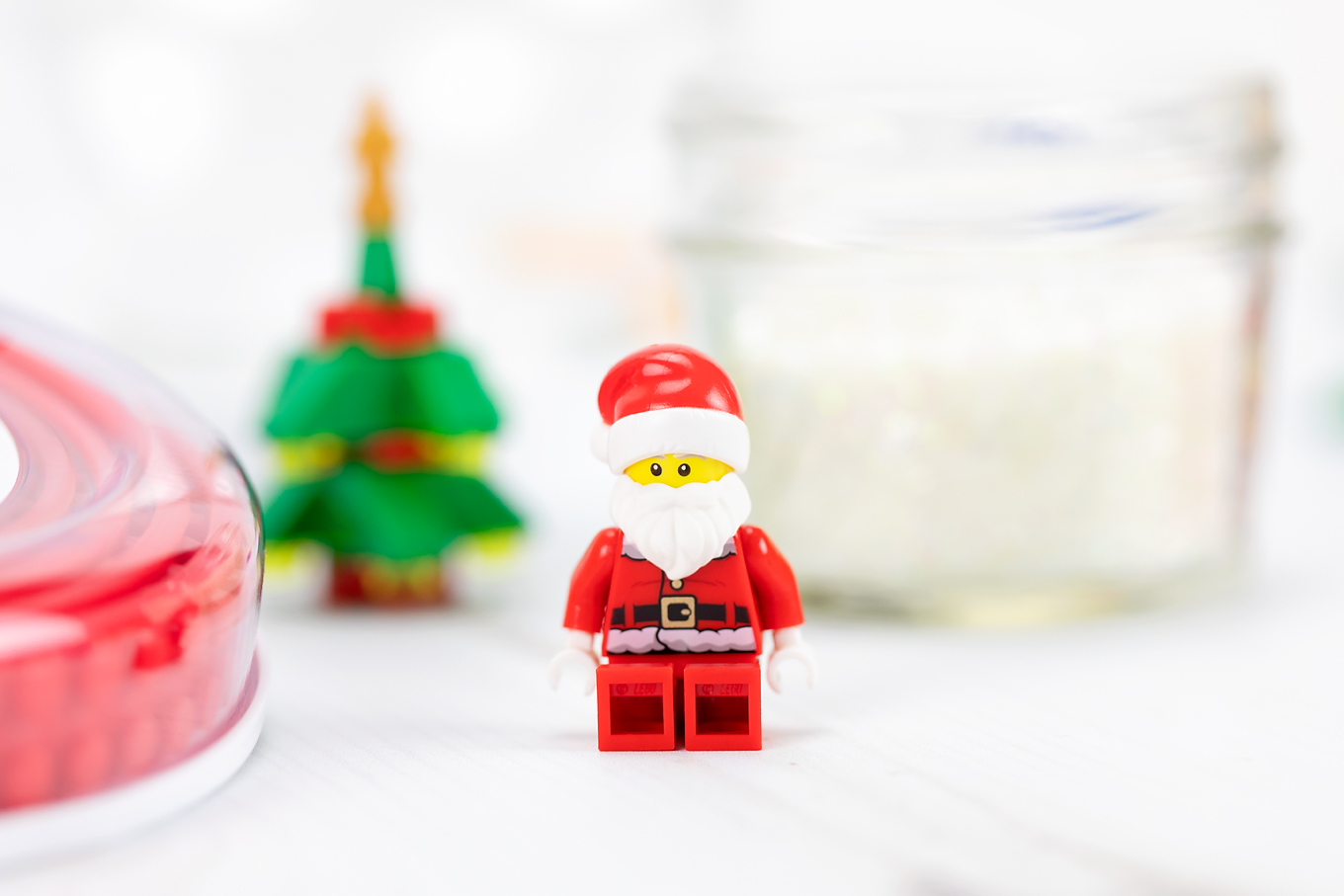 Santa Minifigure for DIY Snow Globe