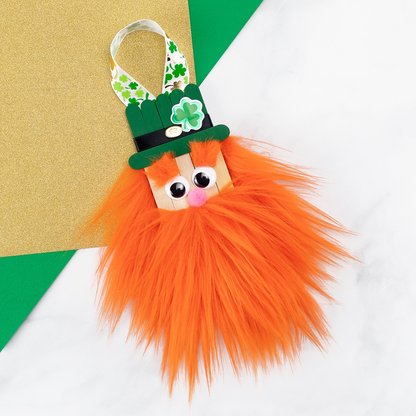 Popsicle Stick Leprechaun Ornament