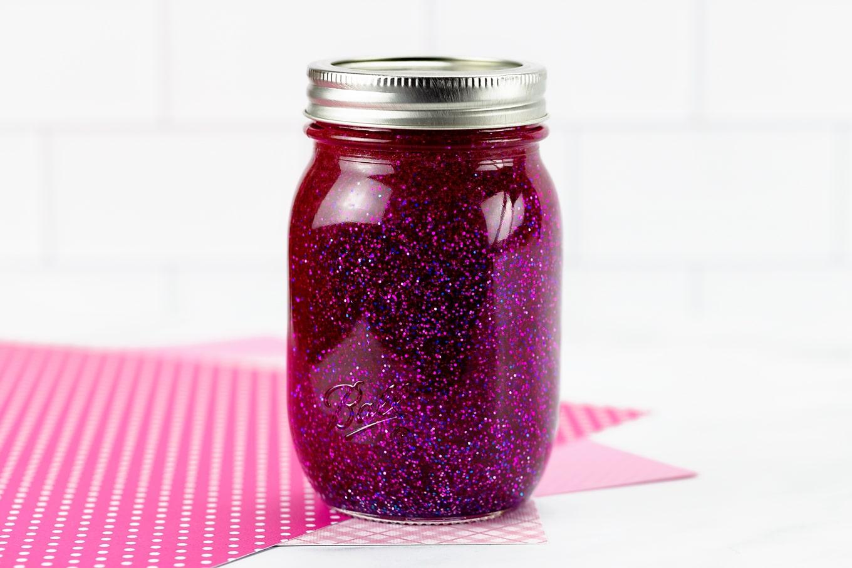 Magenta Glitter Jar
