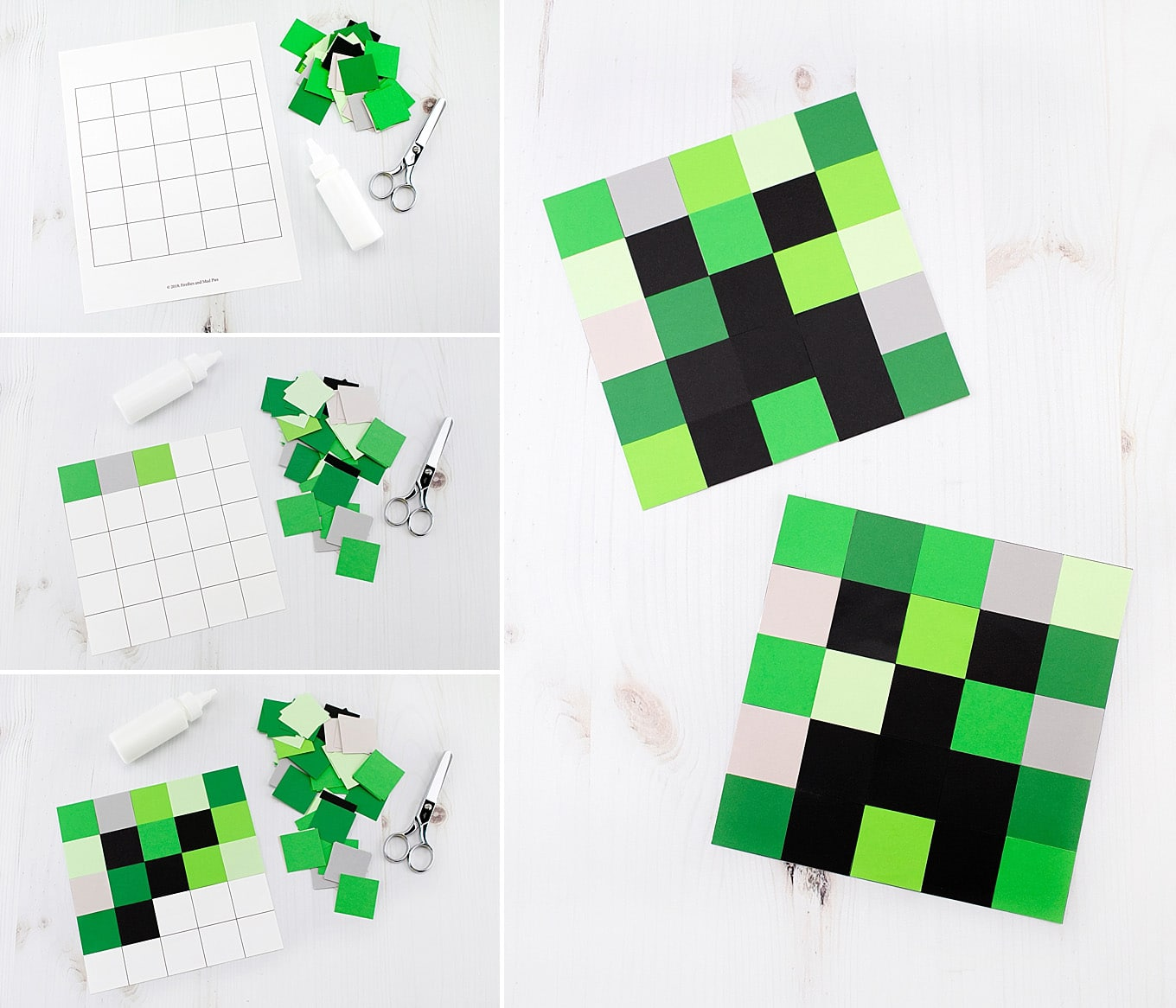It is a picture of Minecraft Creeper Printable in paper