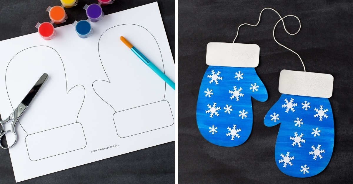 image regarding Printable Mitten Pattern identified as Mitten Craft with Printable Mitten Habit for Small children