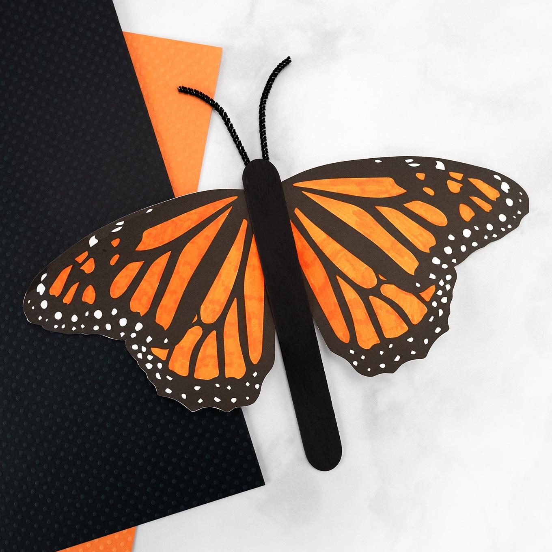 Monarch Butterfly Stick Puppet