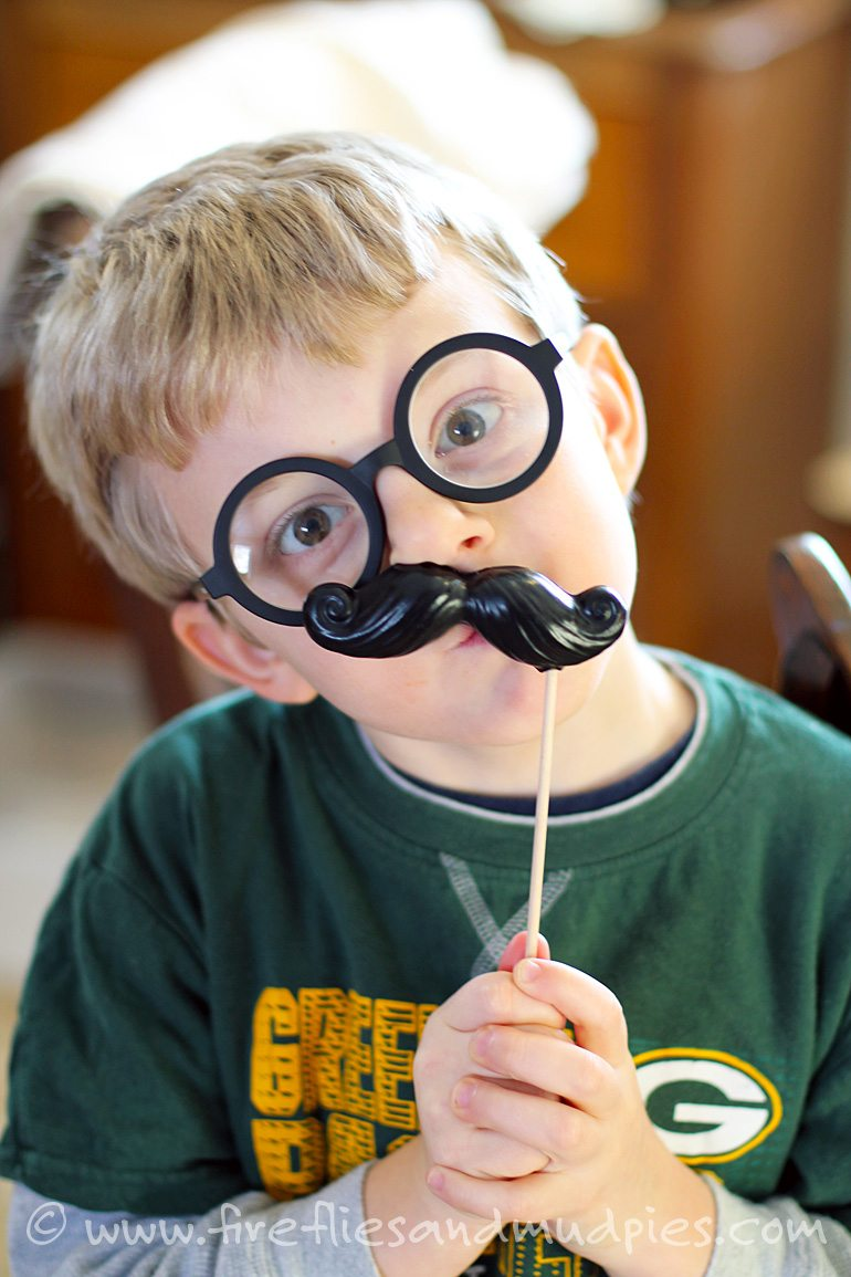 Mustache Crayons for Kids