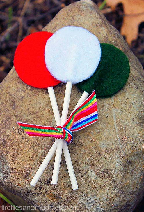 No Sew Felt Lollipops for Imaginative Play