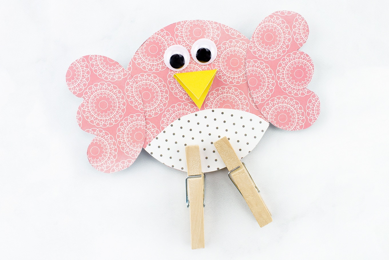 Pink Paper Bird Craft