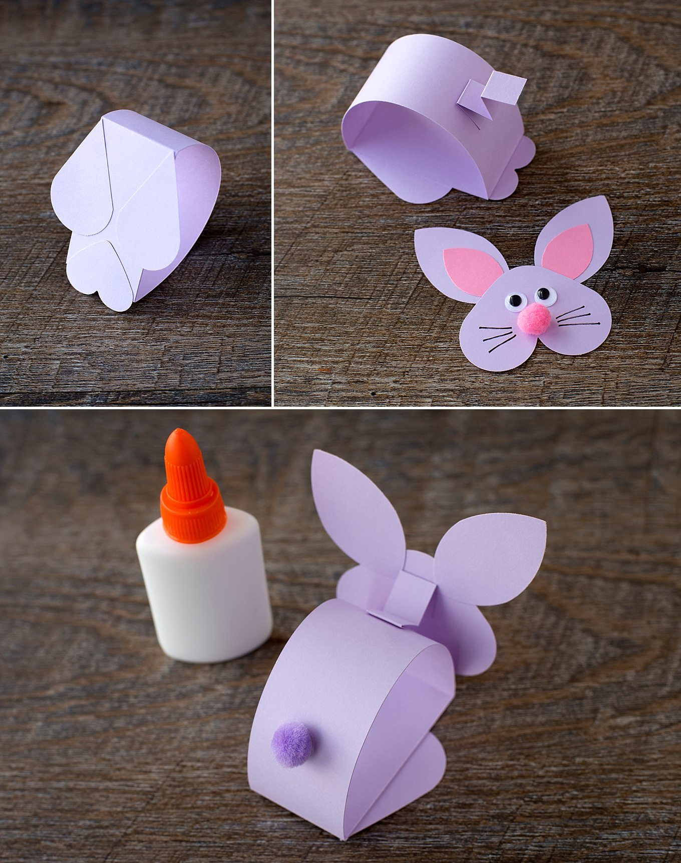 Supplies Needed for Paper Bobble Head Bunny Craft