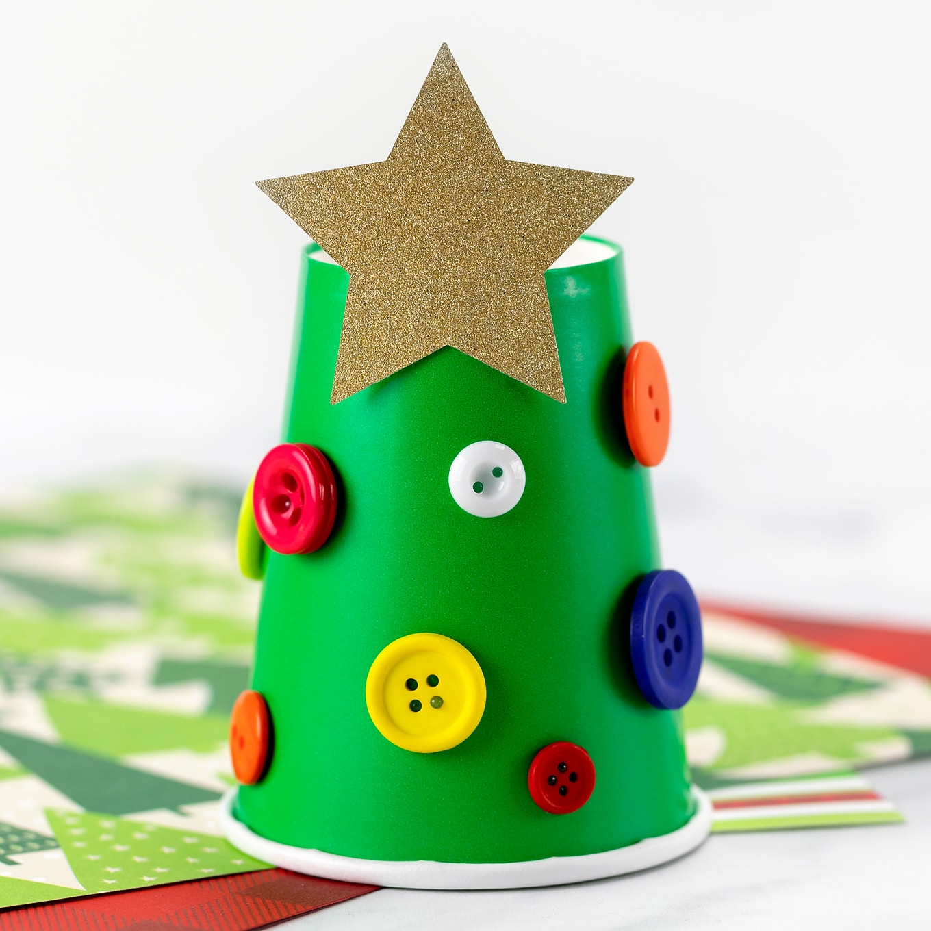 Paper Cup Christmas Tree Fireflies And Mud Pies