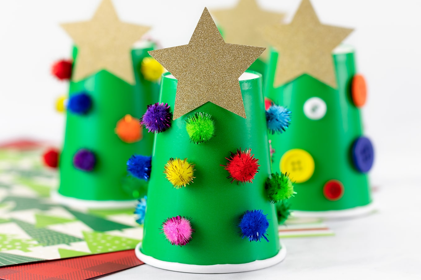 Paper Cup Christmas Tree Craft