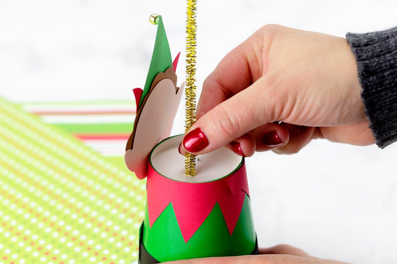 Paper Cup Elf In-Process