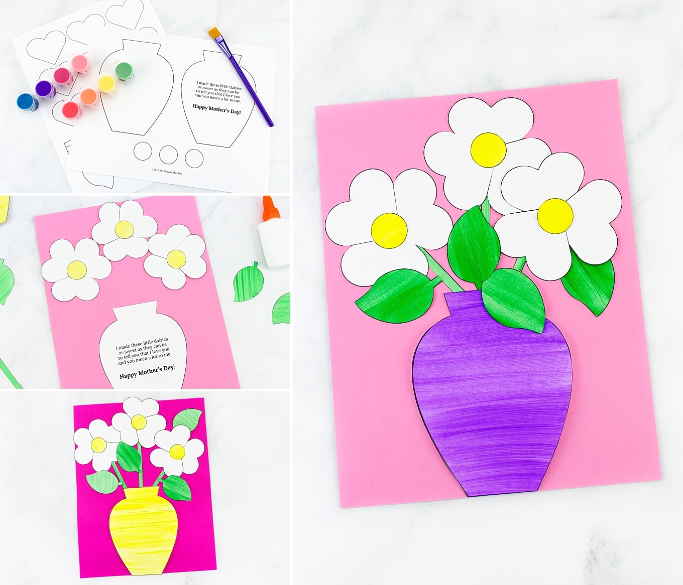 Flower Bouquet Craft for Kids