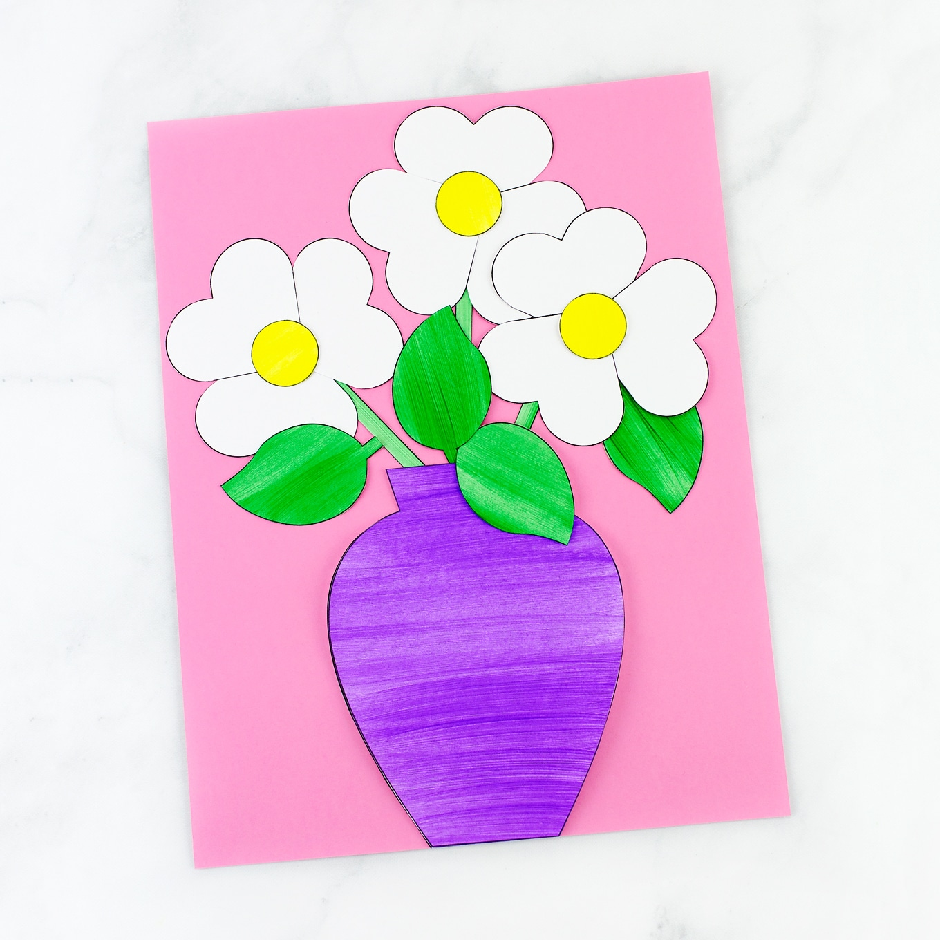 Paper Flower Bouquet Craft