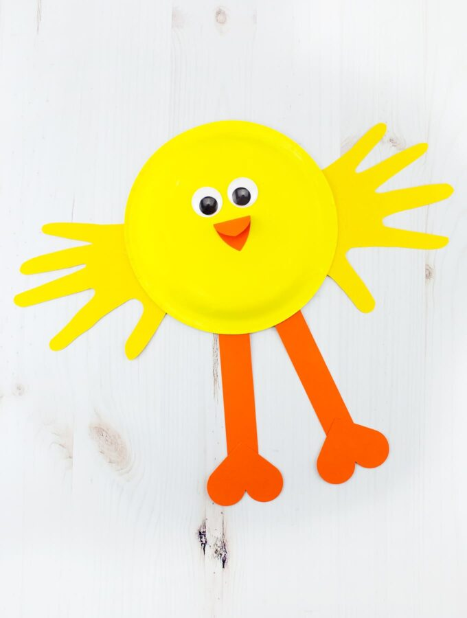 How to Make a Paper Plate Chick Craft