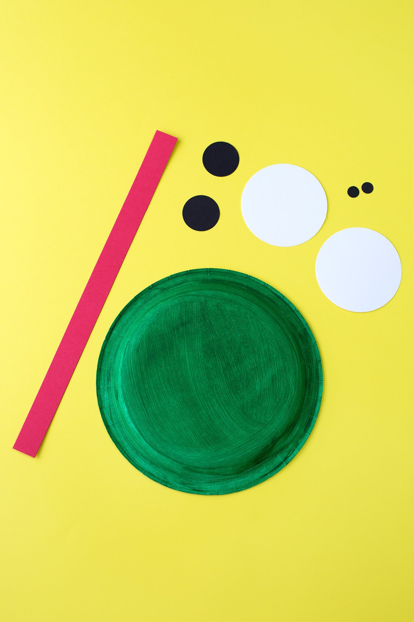 Materials Needed for Paper Plate Frog Craft