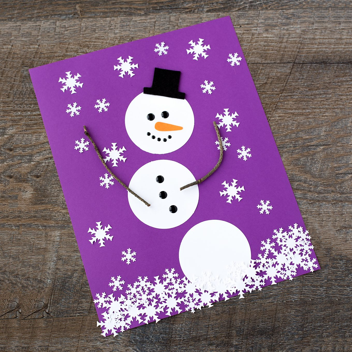 The Happiest Paper Snowman Craft For Kids Fireflies And Mud Pies