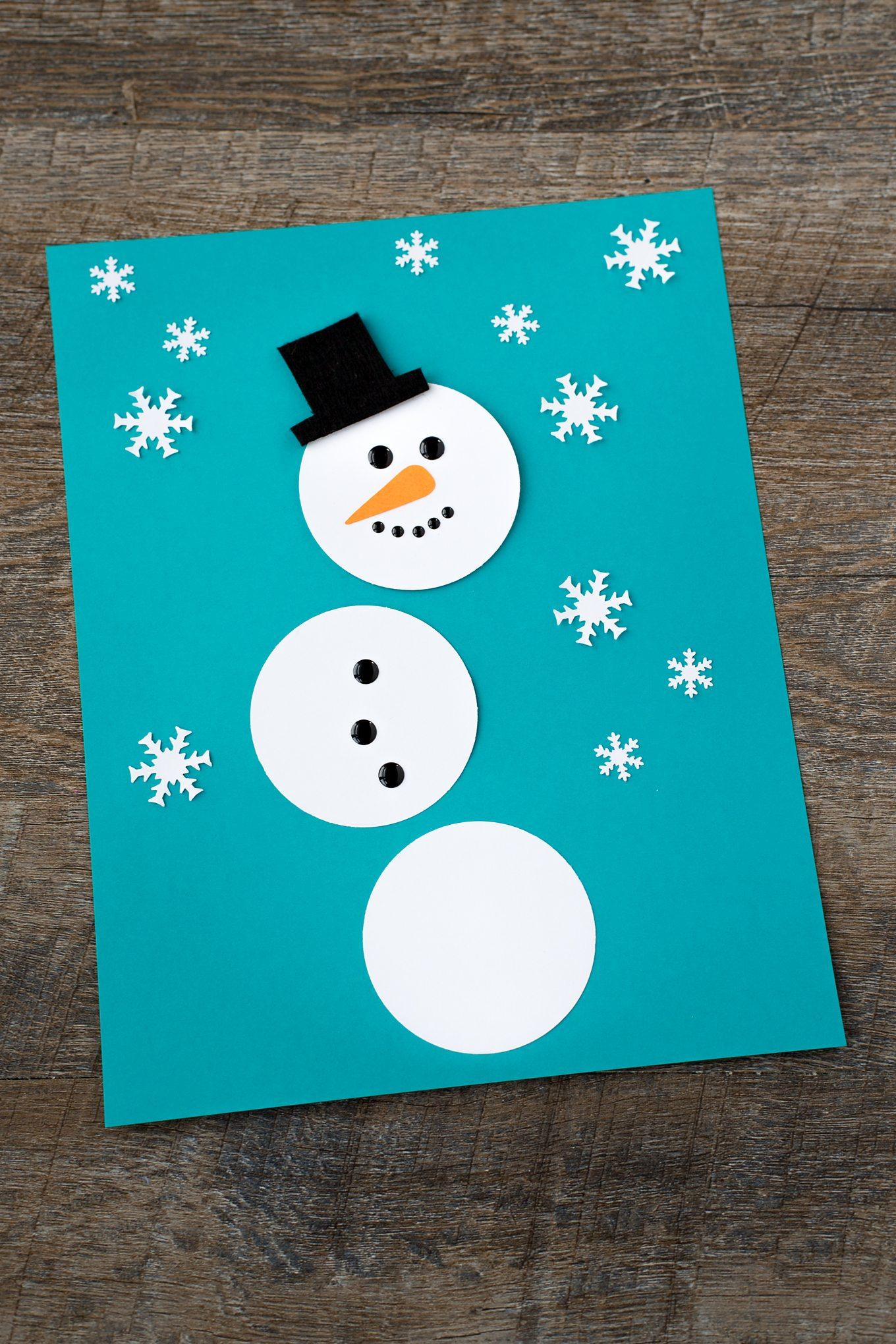 Paper Snowman Art