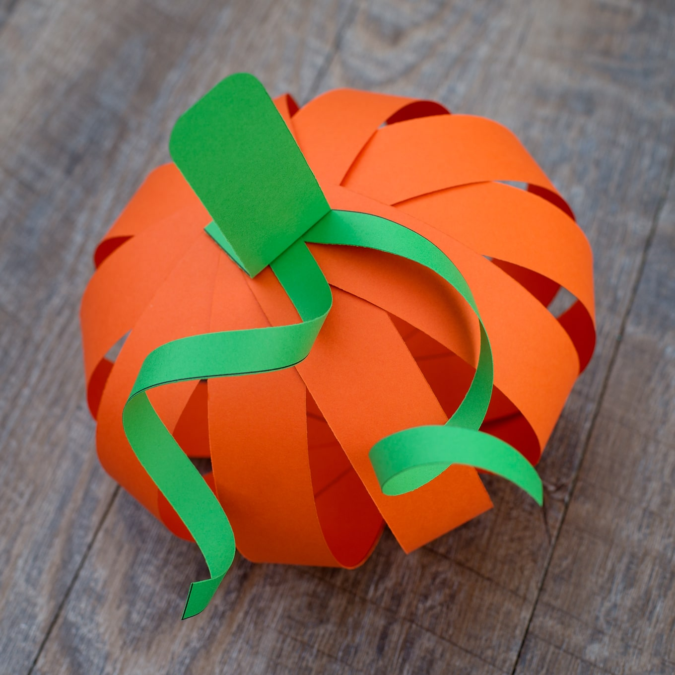 Kids Love This Easy Paper Strip Pumpkin Craft Simple Fall Includes A Free