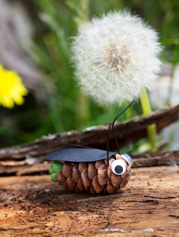 How to Make Pine Cone Fireflies