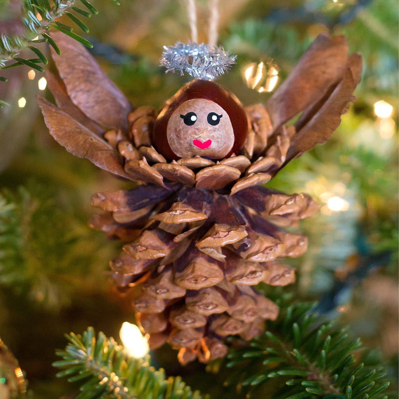 Pinecone Angel Ornaments