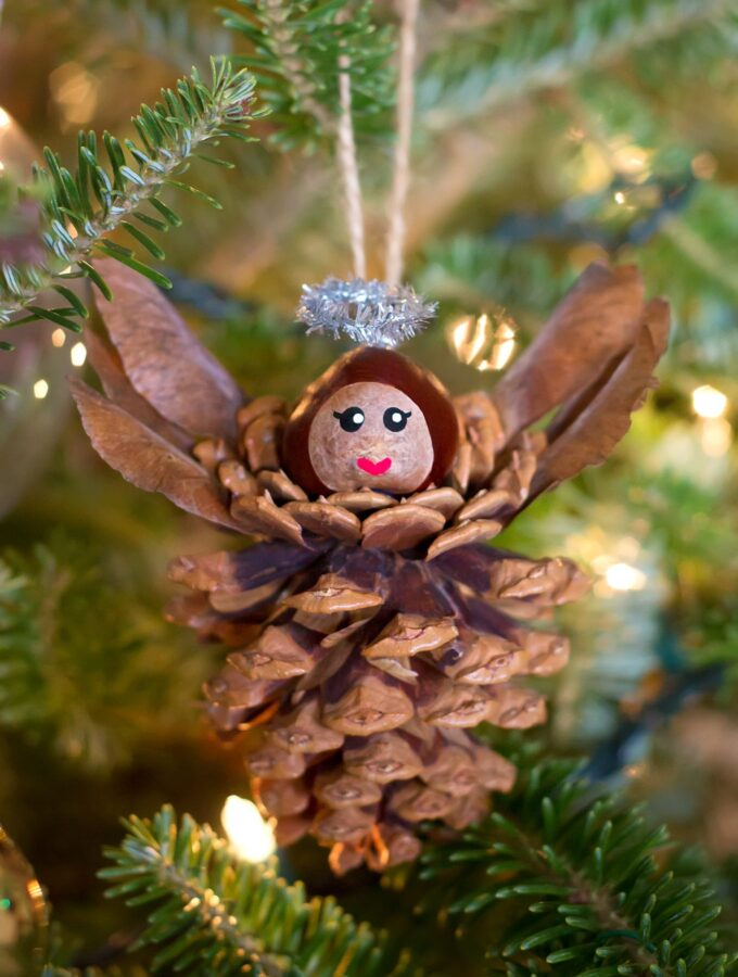 Pinecone Angel Ornaments