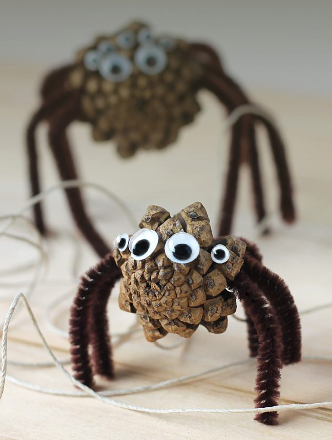 Pine Cone Spiders: A Creepy Nature Craft for Kids