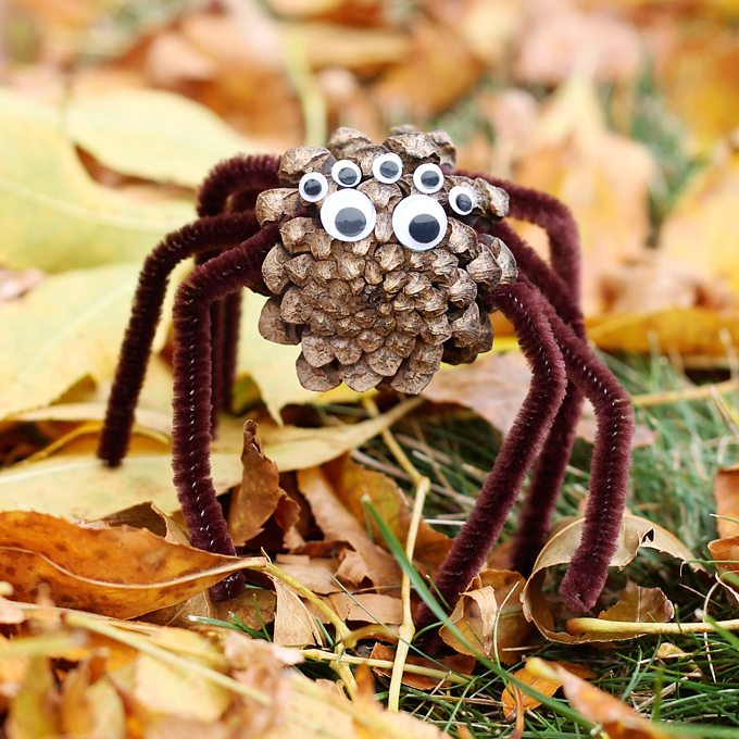 Kids of all ages will enjoy collecting pinecones to create Pinecone Spiders for Halloween. This creepy-cute nature craft is perfect for home, school, or camp.