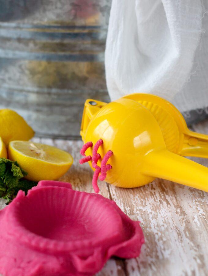 How to Make Pink Lemonade Playdough