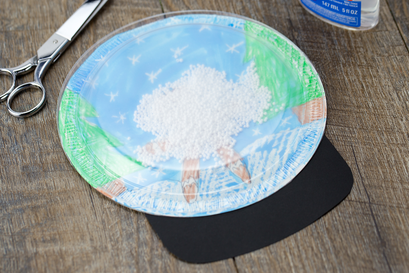 How to Make a Plastic Plate Snow Globe Craft