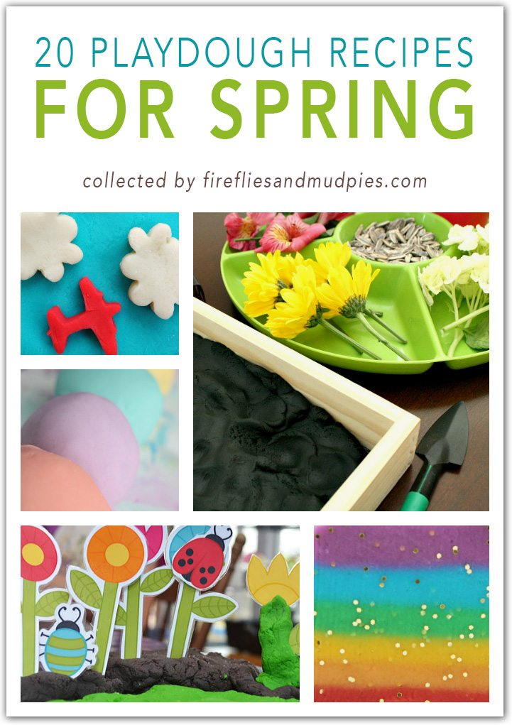 Playdough Recipes for Spring | Fireflies and Mud Pies