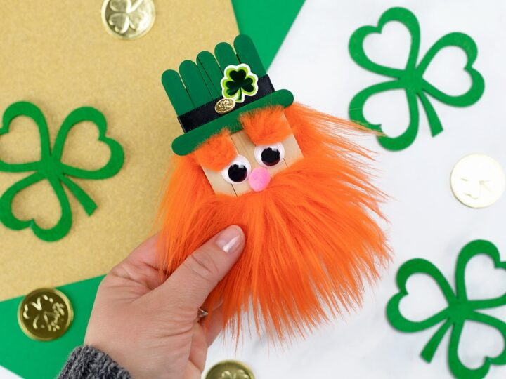 Popsicle Stick Leprechaun Craft