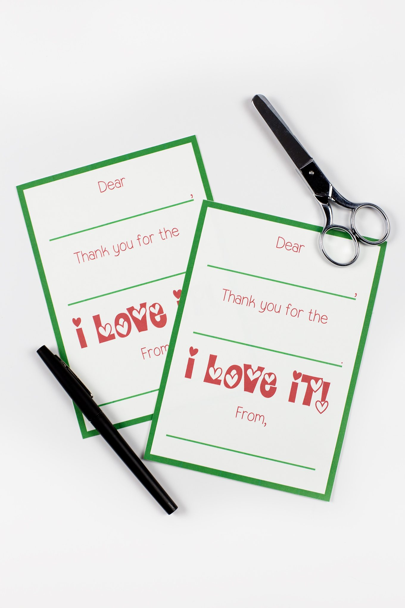 picture regarding Christmas Thank You Cards Printable Free titled Printable Xmas Thank By yourself Playing cards