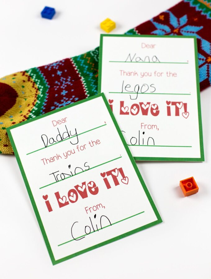Free Printable Christmas Thank You Cards