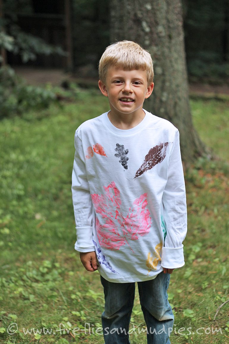 Printed leaf shirts!