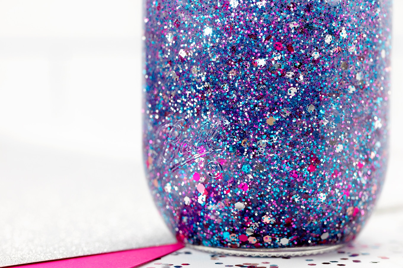 Purple Glitter Jar