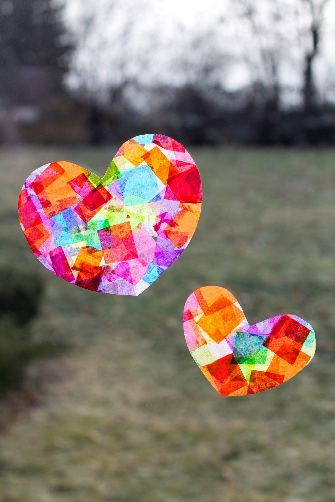 Rainbow Heart Suncatchers Fireflies And Mud Pies