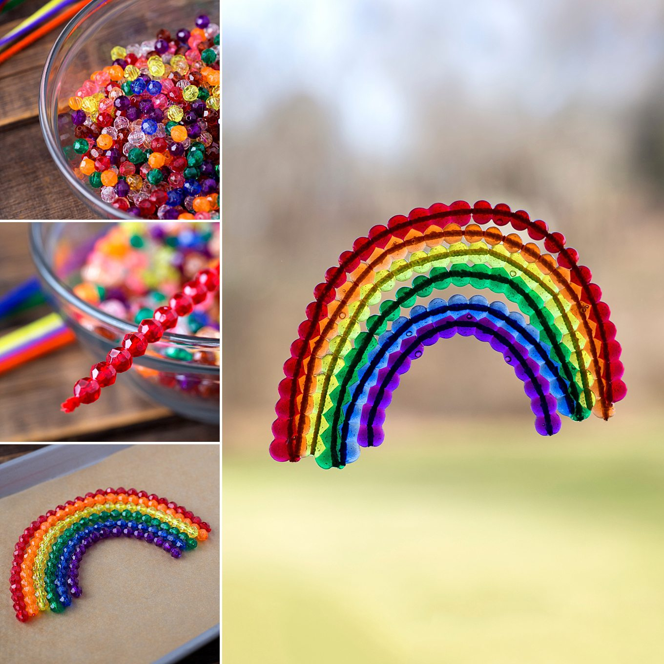 Beaded Rainbow Suncatchers