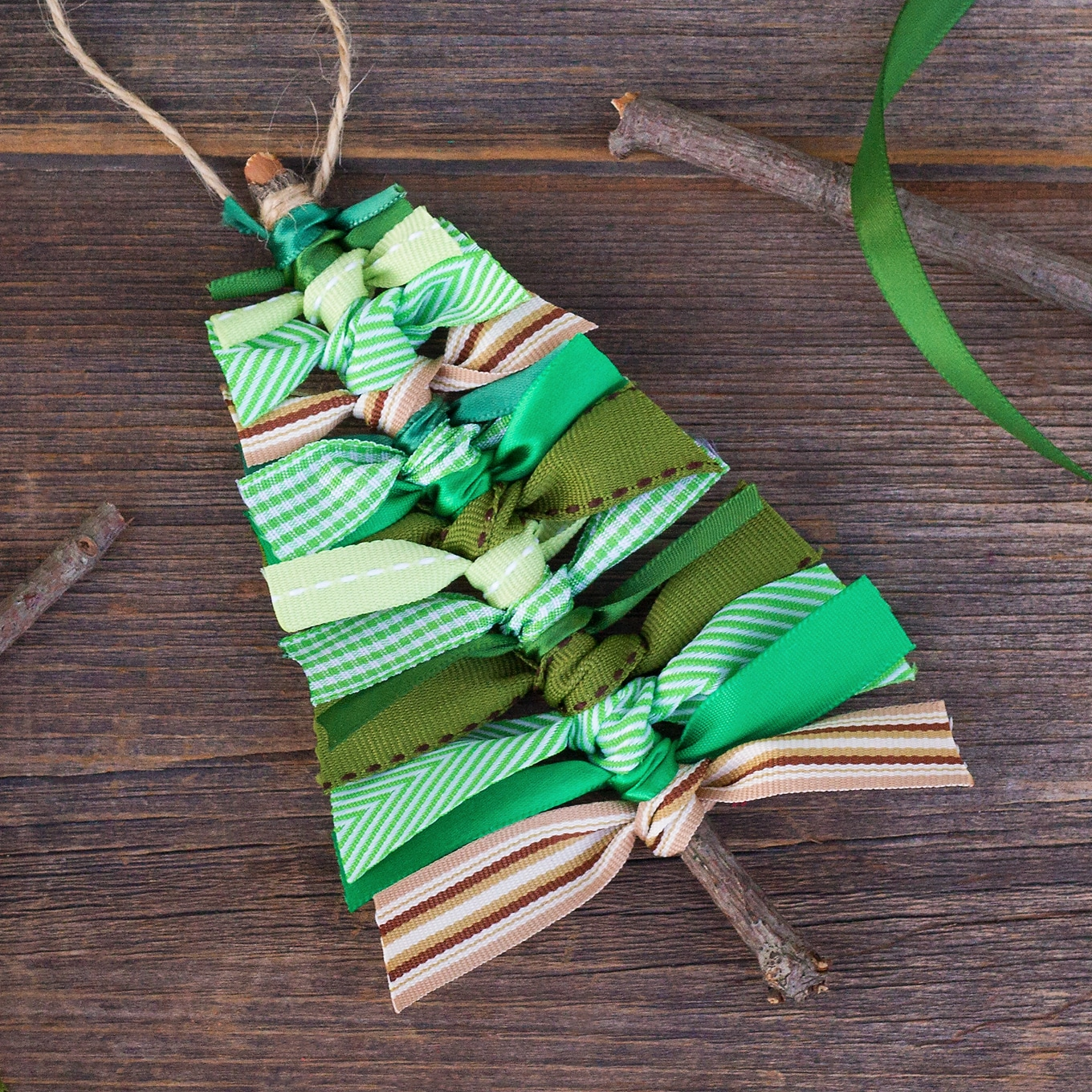 Learn How To Make A Scrap Ribbon Christmas Tree Ornament
