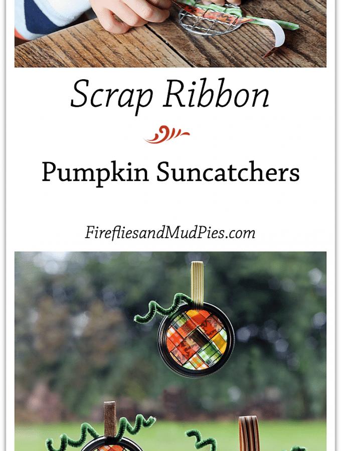 Scrap Ribbon Pumpkin Suncatchers