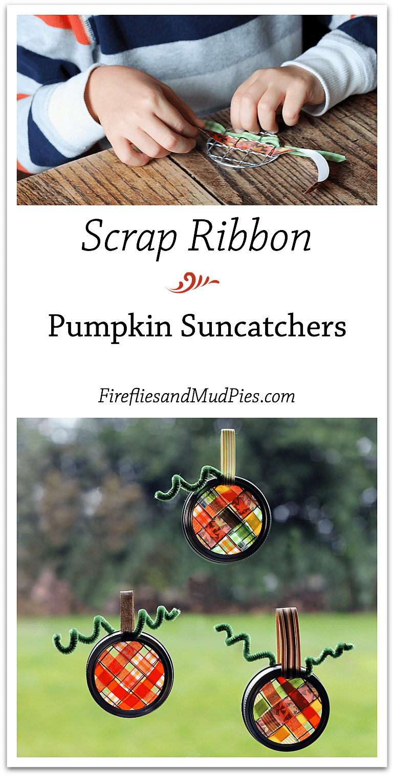 Scrap Ribbon Pumpkin Suncatcher Craft — Fireflies and Mud Pies