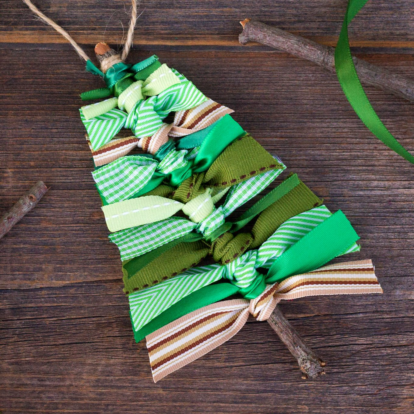 How to Make Scrap Ribbon Tree Ornaments