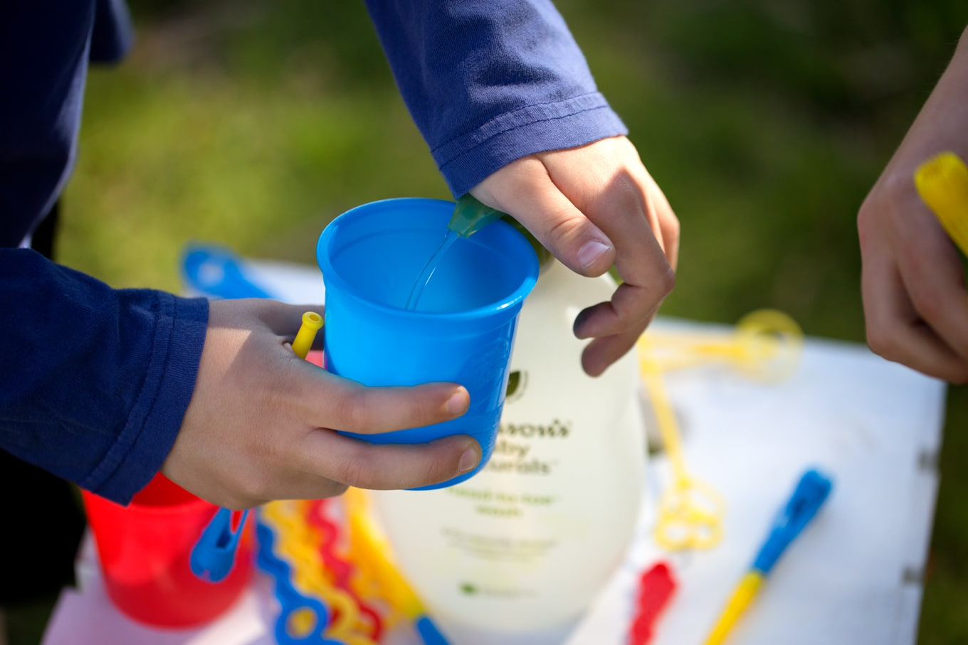 Learn how to turn an old pump bottle into a self-serve bubble refill station for kids. It's eco-friendly, easy, and fun!
