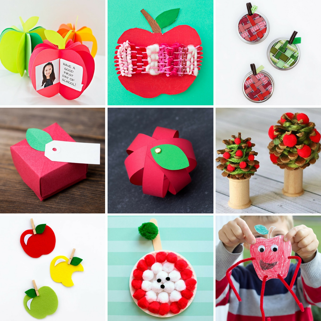 Simple Apple Crafts for Kids