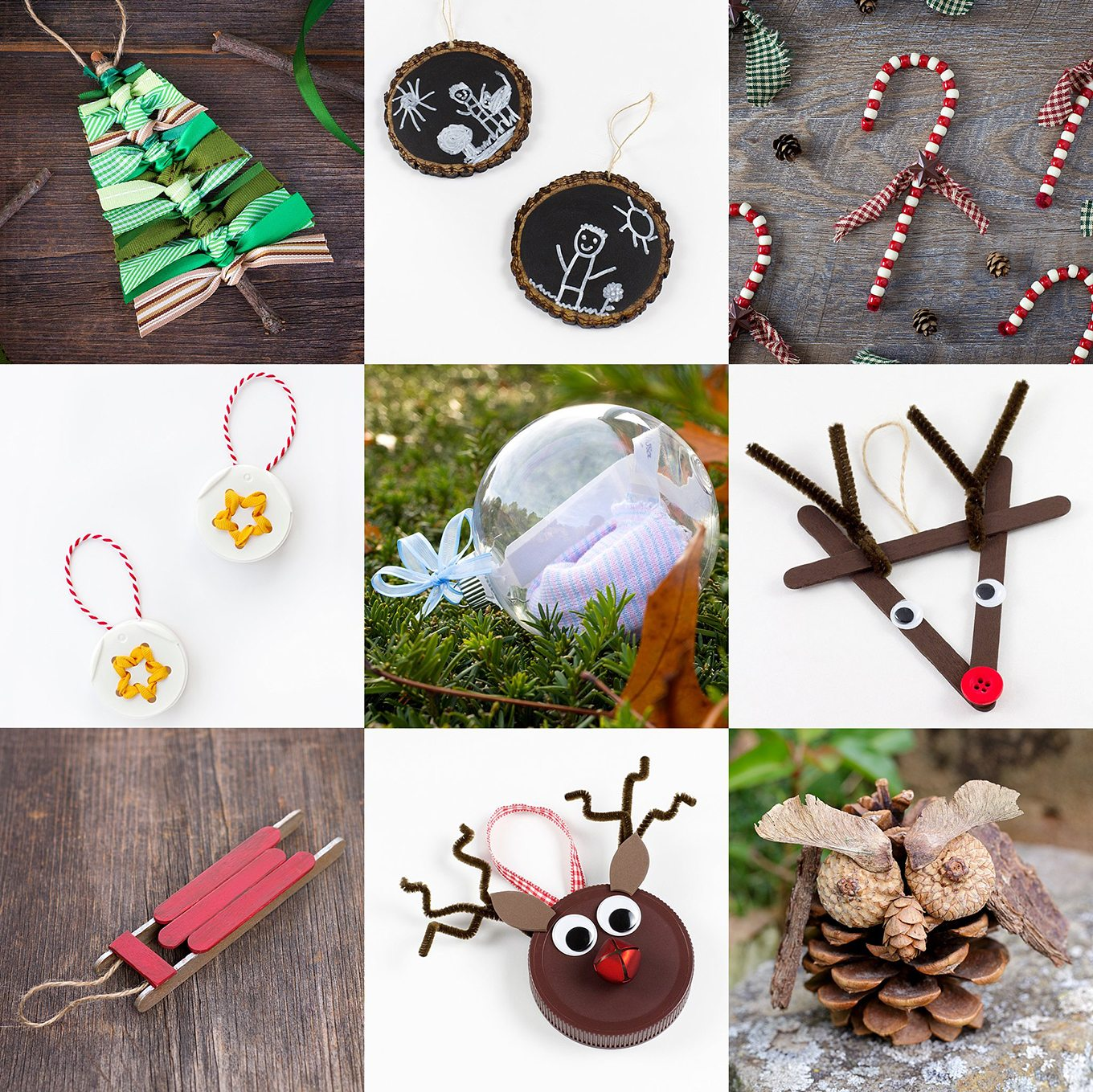 Simple Handmade Christmas Ornaments