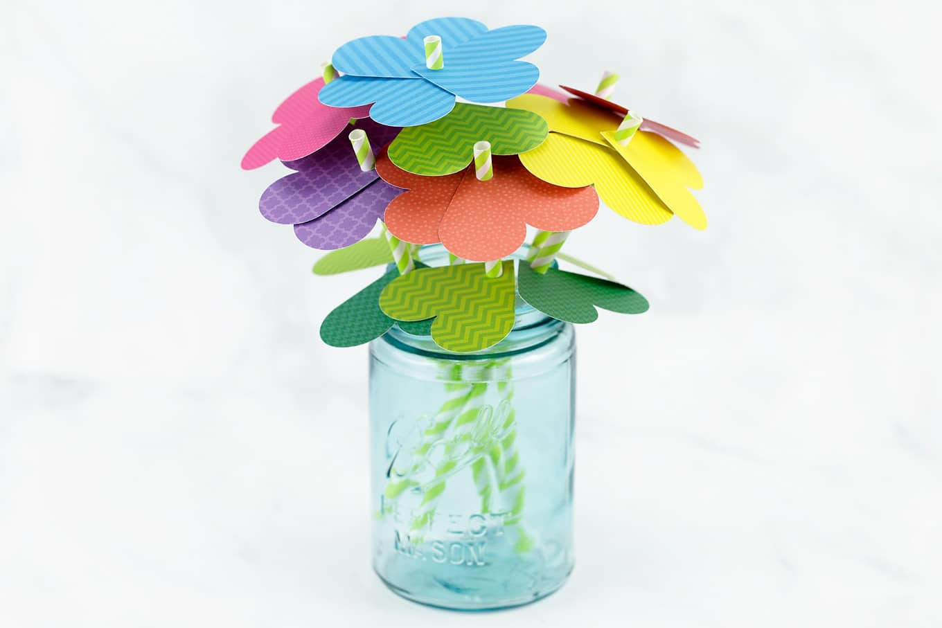 How To Make Simple Paper Heart Flowers Fireflies And Mud Pies