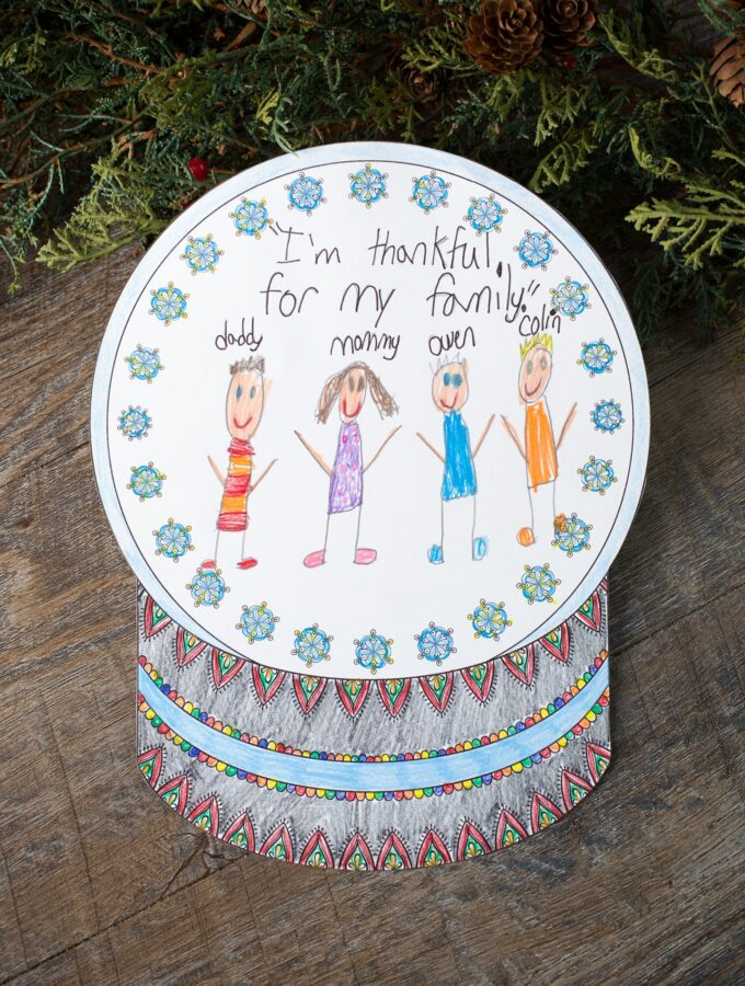 The Prettiest Snowglobe Coloring Page for Kids