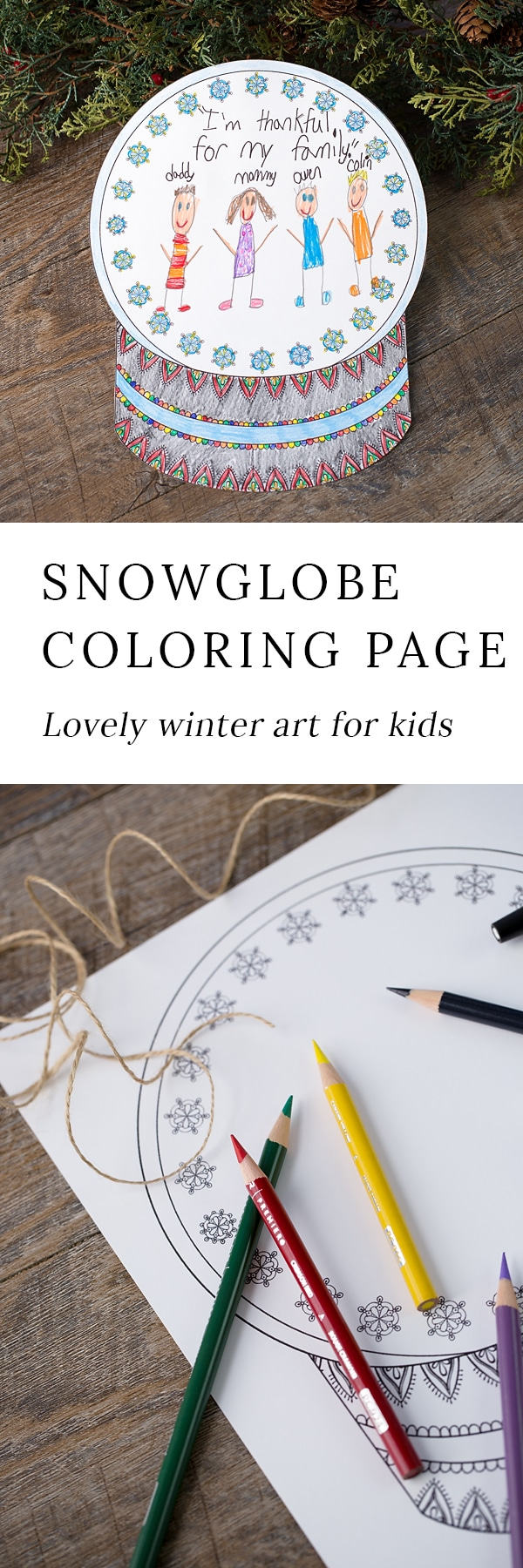 Winter is the perfect season for snowglobe crafts! Whether kids are learning about snow and snowflakes or simply enjoying a winter craft at home, this open-ended snowglobe coloring page is a fun way to enjoy winter.