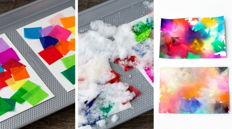 Use Snow to Make Colorful Process Art - SimplyFun 2018-02-24 18:15